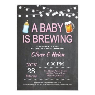 A baby is brewing Baby Shower