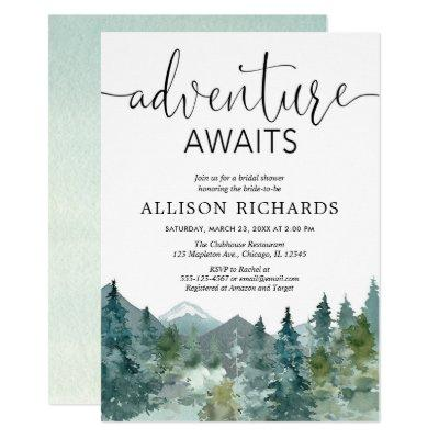 Adventure awaits rustic woodland bridal shower