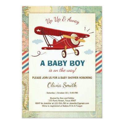Airplane Baby Shower  Travel Adventure