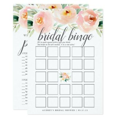 Airy Floral Double-Sided Bridal Shower Game