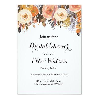 Autumn Fall Floral Chic Bridal Shower