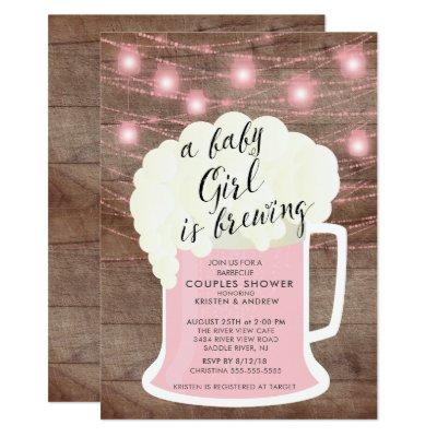 Baby Girl Is Brewing Baby Shower