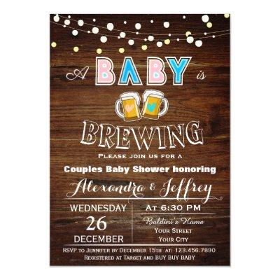 Baby Is Brewing Baby Shower