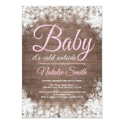 Baby Its Cold Outside Winter Snowflake Baby Shower