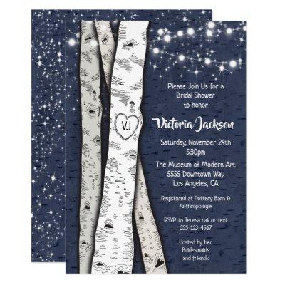 Birch Tree Evening Twinkle Lights Bridal Shower