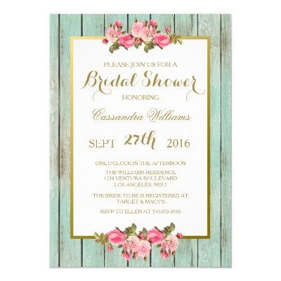 Blush and Mint - Bridal Shower Floral