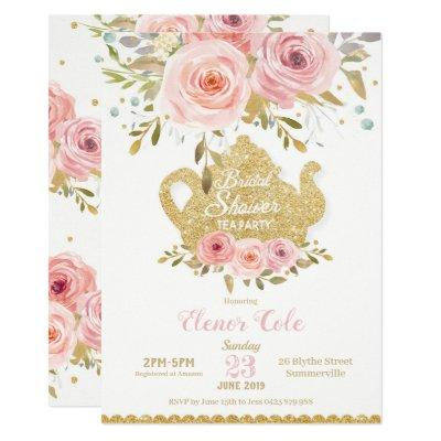 Blush Floral Bridal Shower Tea Party