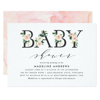 Blush Florals | Baby Shower