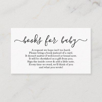 Book Request for Baby Shower  - Simple