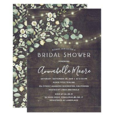 Botanical Greenery Rustic Country Bridal Shower