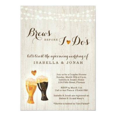 Brews Before I do's Beer Brewery Couple Shower