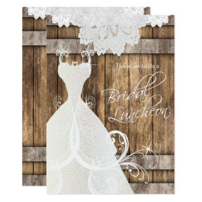 Bridal Luncheon in Rustic Wood and Lace