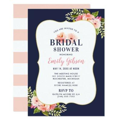 Bridal Shower  | Blush Floral Watercolor