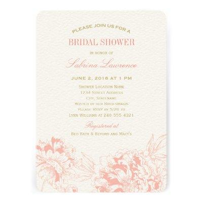 Bridal Shower  | Coral Floral Peony