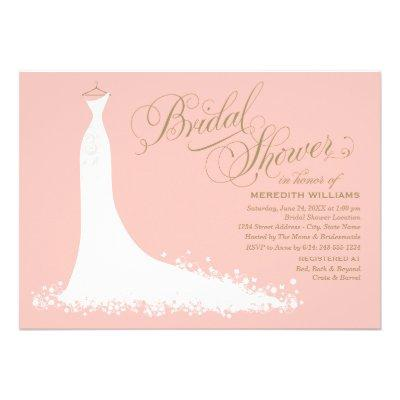 Bridal Shower Invitations | Elegant Wedding Gown Invite