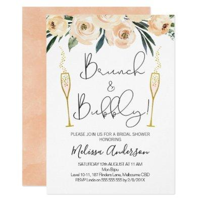 Brunch And Bubbly Floral Bridal Shower