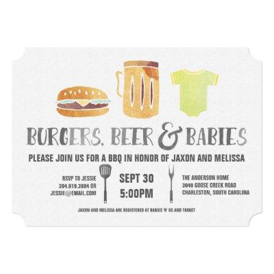 Burgers, Beer, and Babies - Couple's Baby Shower