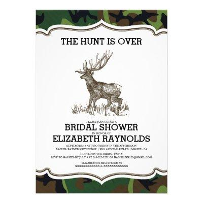 Camo The Hunt is Over Bridal Shower