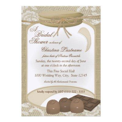 Candy Jar and Chocolates Bridal Shower