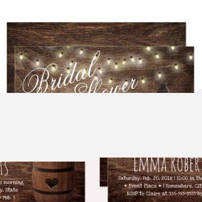Country Lantern & Wine Barrel Bridal Shower