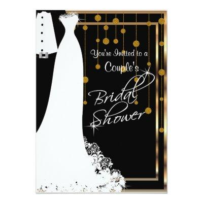 Couple Bridal Shower in Elegant Black and Gold