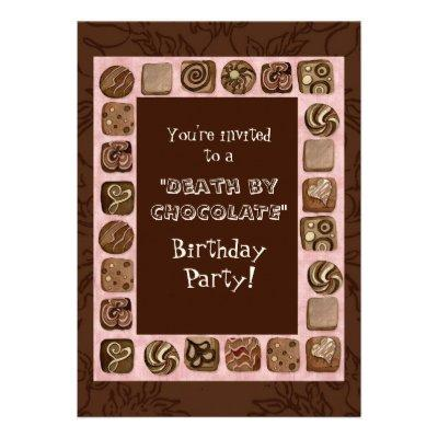 Death by Chocolate Birthday Party
