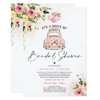 Drive By Bridal Shower  Pink Floral