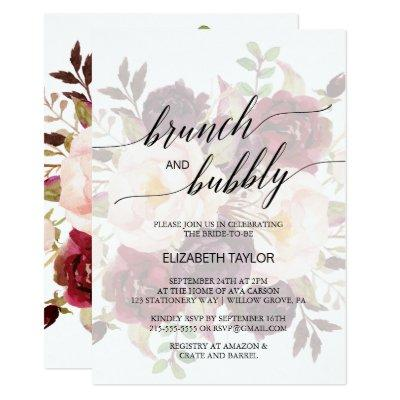 Elegant Calligraphy | Faded Floral Brunch & Bubbly