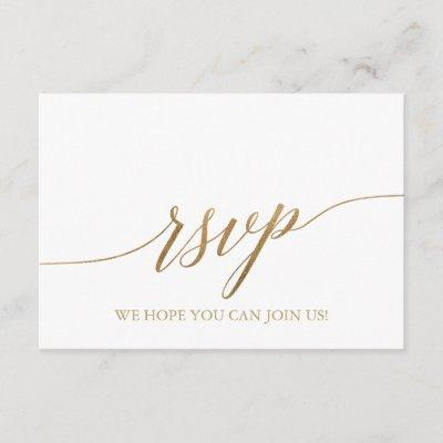 Elegant Gold Calligraphy Song Request RSVP