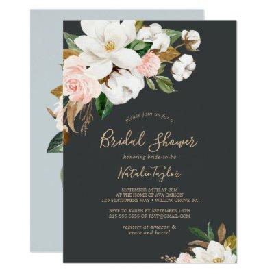 Elegant Magnolia | Black and White Bridal Shower