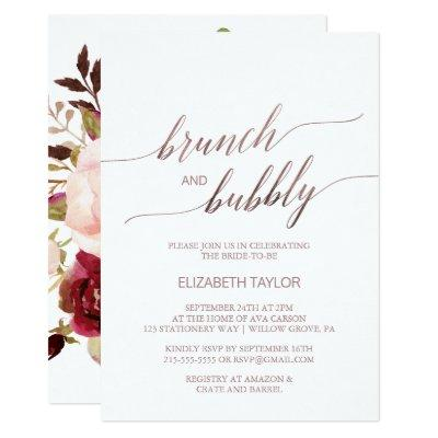 Elegant Rose Gold | Floral Brunch & Bubbly
