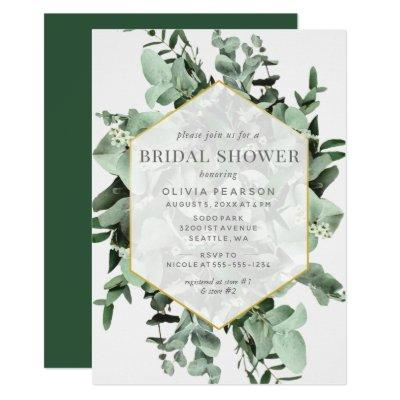 Eucalyptus and Greenery Watercolor Bridal Shower