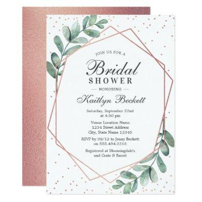 Eucalyptus Rose Gold Geometric Bridal Shower