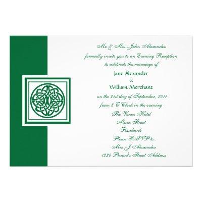 Evening Wedding Celtic Knot Color Select Invites