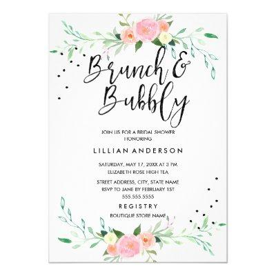Floral Brunch and Bubbly Bridal Shower