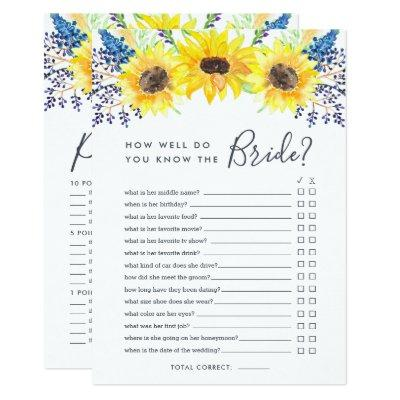 Flowerfields Double-Sided Bridal Shower Game