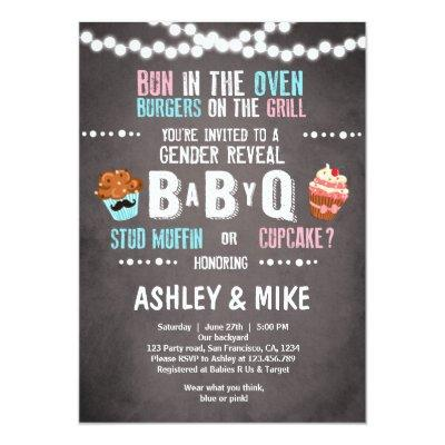 Gender Reveal  BabyQ BBQ Couples Shower