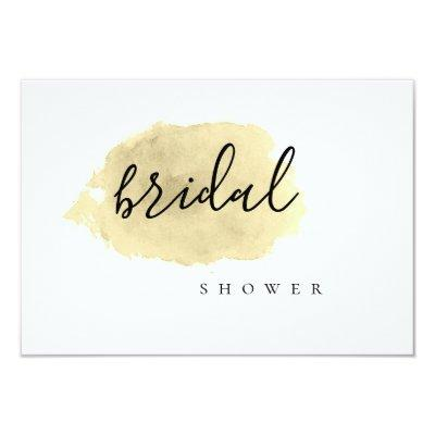Gold watercolor bridal shower
