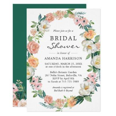 Greenery Secret Garden Floral Wreath Bridal Shower