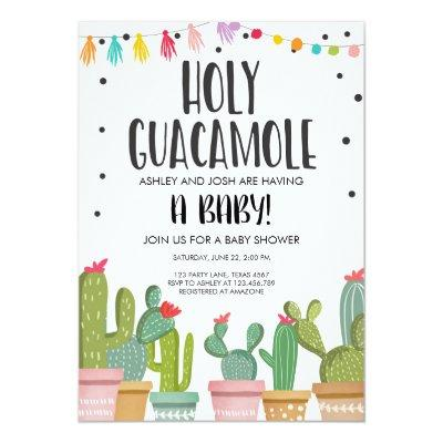 Holy Guacamole Fiesta Baby Shower