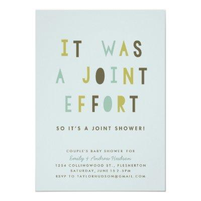 Joint Effort Couple's Baby Shower