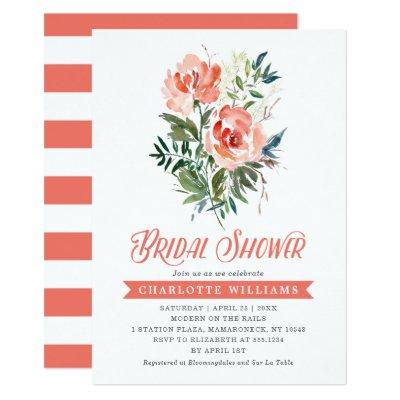 Lush Blooms Bridal Shower Invitations