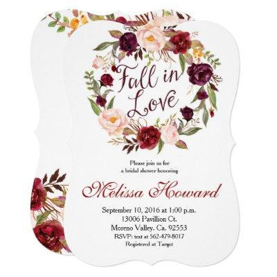 Marsala Bridal Shower Fall