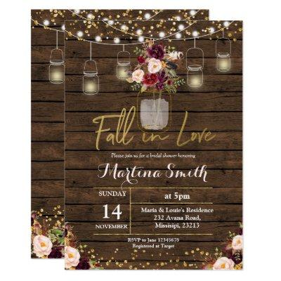 Marsala Fall in Love Bridal Shower