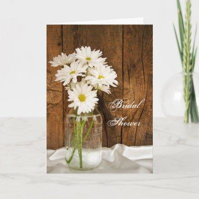 Mason Jar and White Daisies Barn Bridal Shower