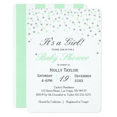 Mint and Silver Baby Shower