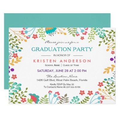 Modern Chic Fresh Floral 2017 Graduation Party