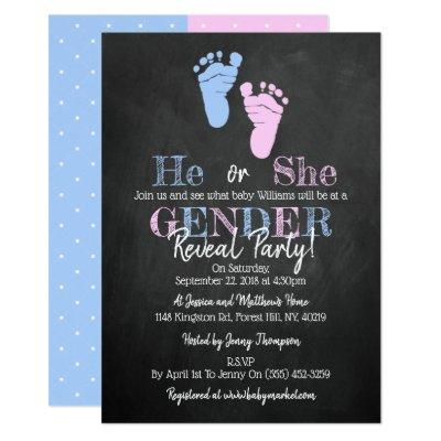 Modern Typography Gender Reveal Party! Baby Shower