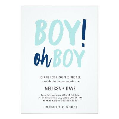 Oh Boy Couples Co-Ed Baby Shower