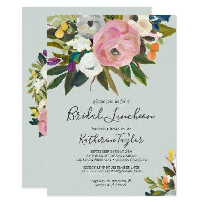 Painted Floral Bridal Luncheon